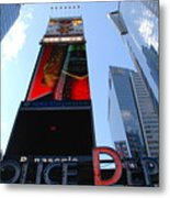 Times Square Cops Metal Print
