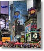 Times Square Metal Print by Joe Paniccia