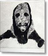 Timido Panda Metal Print