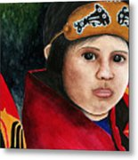 Tinglit Native Girl Metal Print