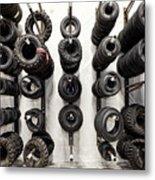Tire Rack Metal Print
