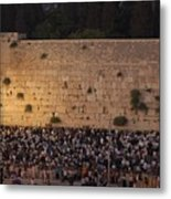 Tisha B'av At The Kotel Metal Print