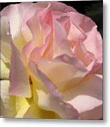 Tissue Paper Rose Metal Print