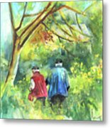 Together Old  In Italy 07 Metal Print