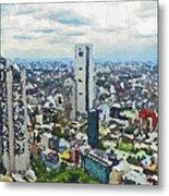 Tokyo City View Metal Print