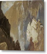 Toltec Gorge And Eva Cliff From The West, Colorado, 1892 Metal Print