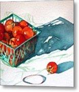Tomato Basket Metal Print