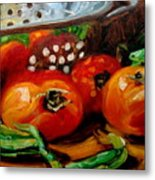 Tomatoes And Onions Metal Print