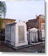 Tombs In St. Louis Cemetery Metal Print