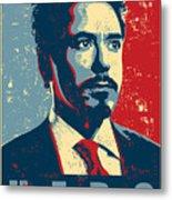 Tony Stark Metal Print