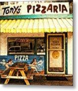 Tony's Pizzaria Metal Print