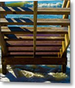 Topsail Island Ocean Steps Metal Print