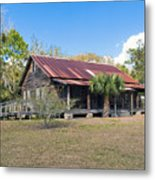 Tosohatchee Cattle Ranch In Central Florida Metal Print