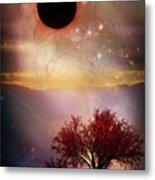 Total Eclipse Of The Sun Tree Art Metal Print