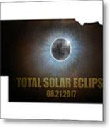 Total Solar Eclipse In Nebraska Map Outline Metal Print