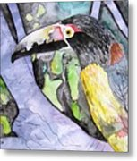 Toucan Bird Tropical Painting Fine Modern Art Print Metal Print