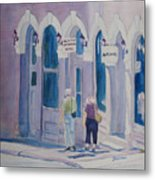 Tourists In Central City Metal Print