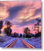 Tracking Towards A Cure Metal Print by JC Findley