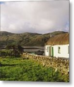 Traditional Cottage, Near Lough Rus Metal Print