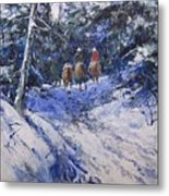 Trail To Winter Camp Metal Print