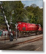 Train - Diesel - Look Out For The Locomotive  Metal Print