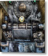 Train - Engine -1218 - Norfolk Western Class A - 1218 - Front View Metal Print