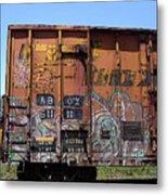 Train Car Graffiti 1 Metal Print