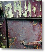 Train Door Metal Print