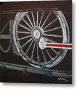 Train Wheels 2 Metal Print
