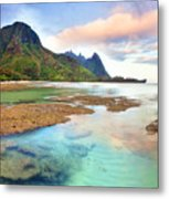Tranquil Dawn Hawaii Metal Print by Monica and Michael Sweet