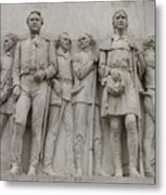 Travis And Crockett On Alamo Monument Metal Print