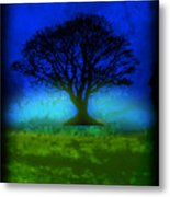 Tree Of Life - Blue Skies Metal Print by Robert R Splashy Art