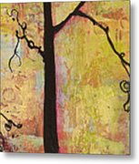 Tree Print Triptych Section 2 Metal Print by Blenda Studio