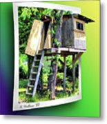 Treehouse Fort Metal Print