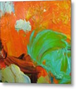 Trees Aceo Abstract Metal Print