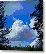 Trees And A Cloud For Crying Out Loud Metal Print