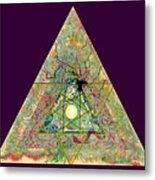 Triangle Triptych 3 Metal Print