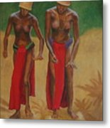 Tribal Dancers Metal Print