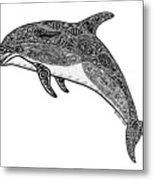 Tribal Dolphin Metal Print