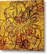 Tribal Flower Metal Print