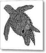 Tribal Turtle I Metal Print