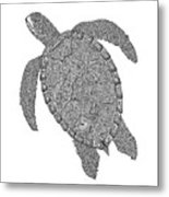Tribal Turtle II Metal Print