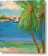 Tropical Sails Metal Print