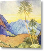 Tropical Vintage Hawaii Metal Print