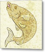 Trout Fish Jumping Metal Print by Aloysius Patrimonio