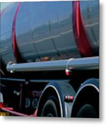 Truck On A9 Highway Metal Print by Sami Sarkis