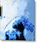 Tsunami Warning Metal Print