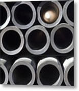 Tubular Abstract Art Number 10 Metal Print