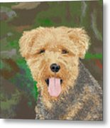 Tucker The Welsh Terror Metal Print