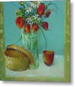 Tulips And Daisies               Copyrighted Metal Print